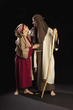 thespian: people depicting mary and joseph