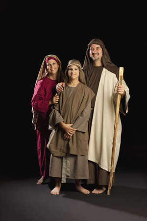 mary, joseph and young jesus photo