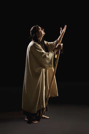 thespian: joseph praying Stock Photo