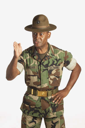 commands: fort lauderdale, florida, united states of america; a military man giving orders