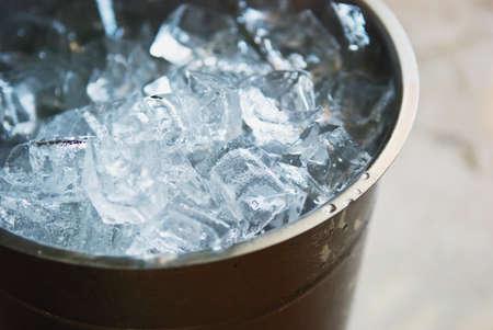 cubos de hielo: en un cubo de hielo