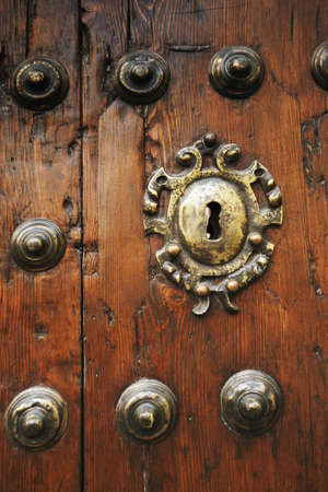keyholes: ecija, sevilla, spain; an old door Stock Photo