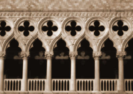 doges: Façade of Doges Palace, Venice, Italy