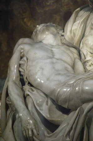 Pieta, marble sculpture by Michelangelo  (1499) St Peters Basilica,Vatican city, Rome, Italy