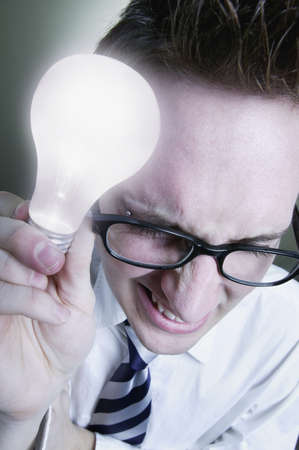 imaginor: Man with lightbulb