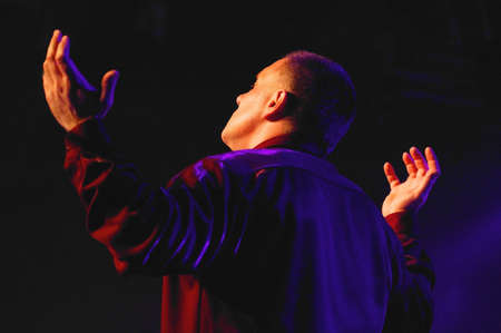 speechless: Man worshipping