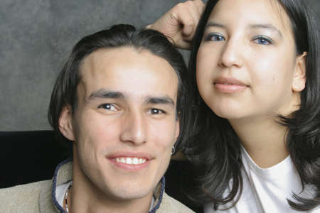 aboriginal woman: Portrait of a couple