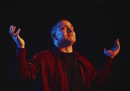 worshipping: A man worshipping