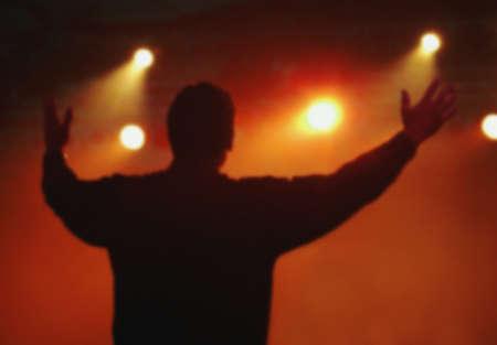 A man worshipping