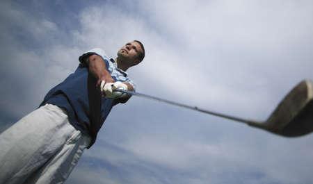 grip: Golfer judging the shot