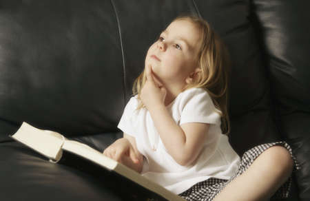 questions: Little girl reading