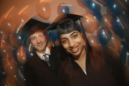 graduation party: Graduates Stock Photo