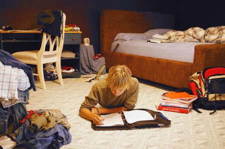 disordine: Camera di un adolescente  Archivio Fotografico