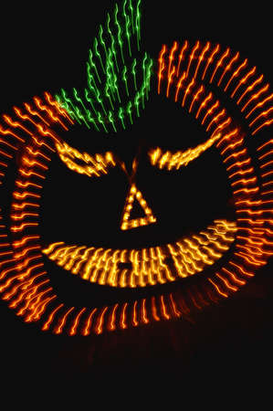 Neon light pumpkin