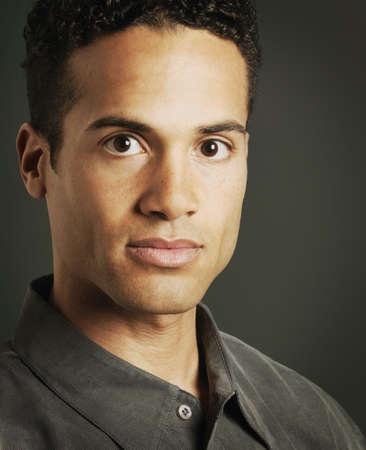 mans: Portrait of a mans face Stock Photo