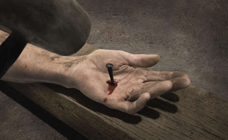 a righteous person: Closeup of Jesus hand