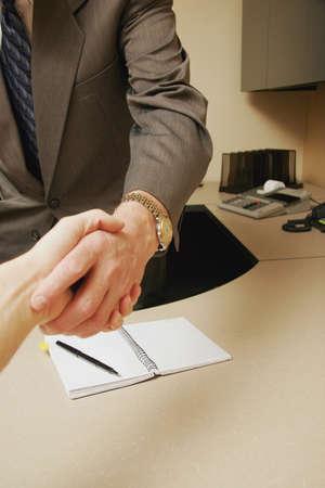 grasp: Business handshake Stock Photo