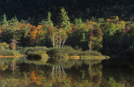 notch: Willey Pond, Crawford Notch White Mountains Stock Photo
