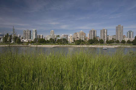 View of a cityscape across a bay photo
