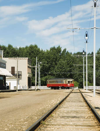 streetcar: Old-fashioned streetcar