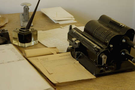 20th: Antique office supplies Stock Photo