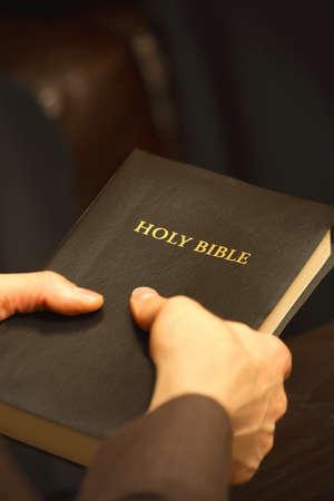 Man holding Bible Stock Photo - 7191097