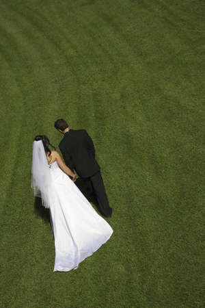 Couple on wedding day  photo