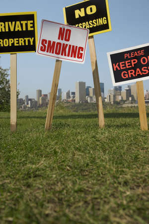 trespasser: Signs Stock Photo