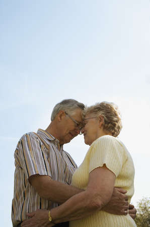 Elderly couple embracing Stock Photo - 7191407