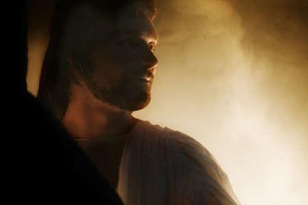 イエスのよみがえりの描写 写真素材