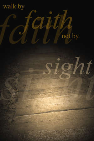 inspirerend: Een licht voor mijn pad Stockfoto