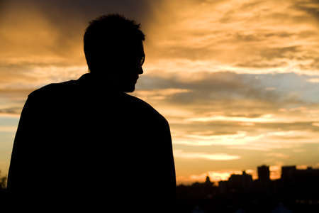 Male silhouette Stock Photo - 7192111