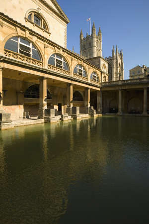 Roman Bath in England photo