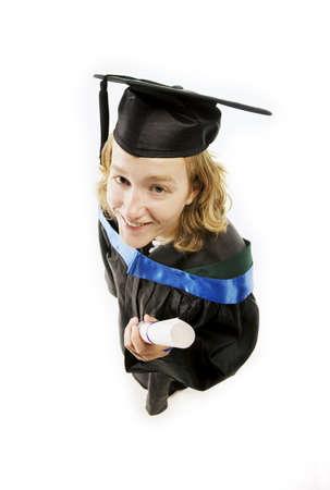 eyecontact: Female graduate
