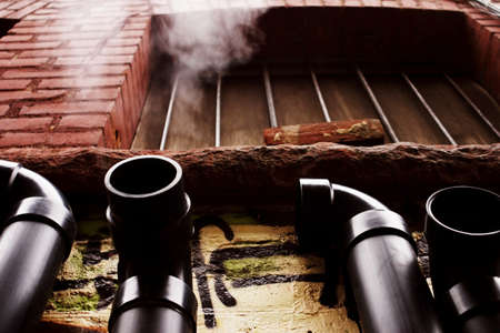 Pipes on the exter of a building Stock Photo - 7192822