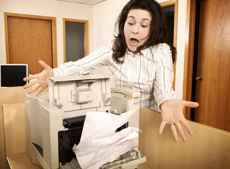 businesspersons: Frustrated woman