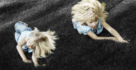 warkentin: Two girls playing Stock Photo