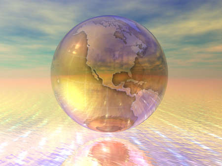 multinational: 3D Globe Stock Photo