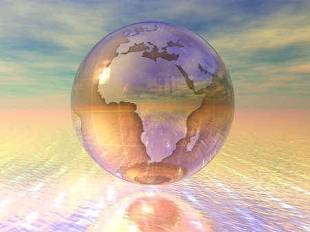3d: 3D Globe Stock Photo