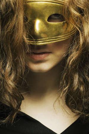 thirty something: Woman wearing a mask