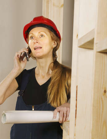Tradeswoman at work Stock Photo - 7196144