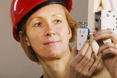 Female electrician photo