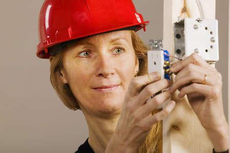 werk: Vrouw aan het werk