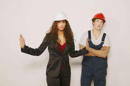Supervisor and tradesman photo