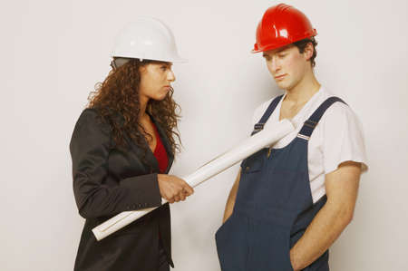 Supervisor and tradesman Stock Photo - 7196137