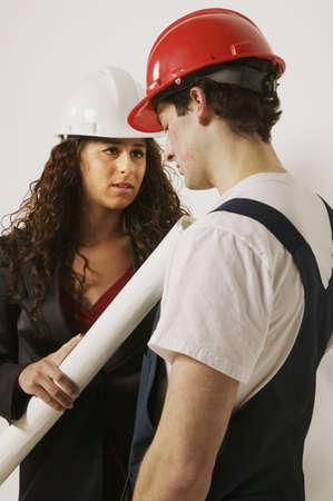 Supervisor and tradesman Stock Photo - 7196200