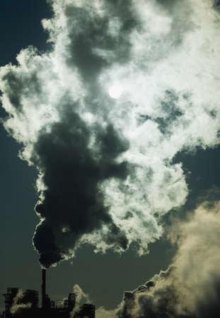 smokestacks: Factory smoke