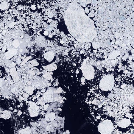 Martian ice floes Stock Photo