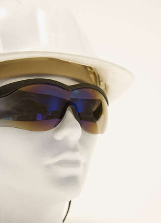 protective: Mannequin displaying sunglasses