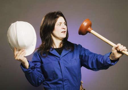 tradeswomen: Female plumber